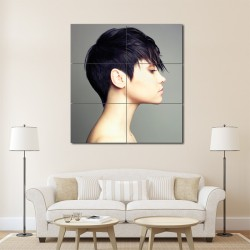 On the Edge Short Hairsyle Barber Haircuts Block Giant Wall Art Poster (P-1374)