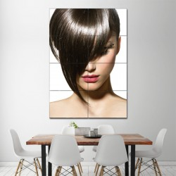 Fashionable Bob Hair Barber Barber Haircuts Block Giant Wall Art Poster (P-1375)