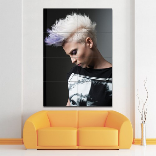 Side-Shaven Mohawk Hairstyle Barber Haircuts Giant Poster