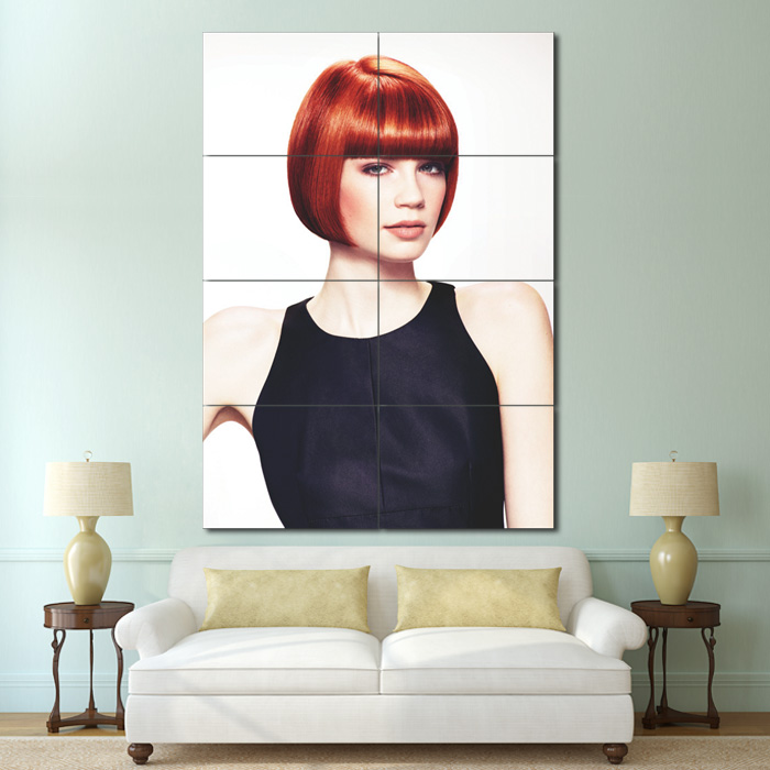 Classic Bob With Straight Fringe Hair Block Giant Poster