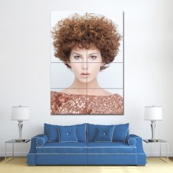 Perm hairstyle Block Giant Wall Art Poster (P-1380)
