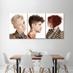 Short Punk Hairstyles for Men and Women Barber Haircuts Block Giant Wall Art Poster (P-1384)