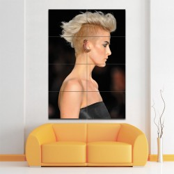 Platinum Mohawk Barber Haircuts Block Giant Wall Art Poster (P-1385)