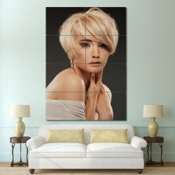 Layered Bob haircut Barber Haircuts Block Giant Wall Art Poster (P-1386)