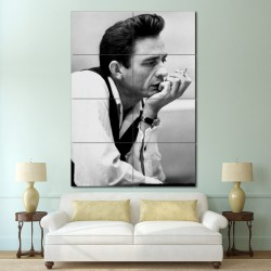 Johnny Cash Smoking Block Giant Wall Art Poster (P-1393)