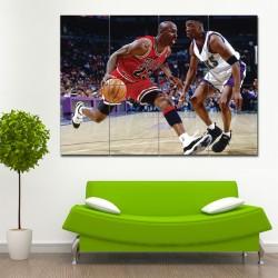 โปสเตอร์ ขนาดใหญ่ ภาพนักกีฬา Michael Jordan ไมเคิล จอร์แดน (P-1395)