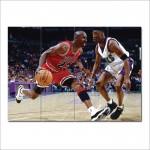 โปสเตอร์ ขนาดใหญ่ นักกีฬา Michael Jordan ไมเคิล จอร์แดน