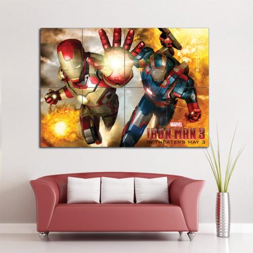 โปสเตอร์ ขนาดใหญ่ ภาพ Iron Man 3 ไอรอนแมน