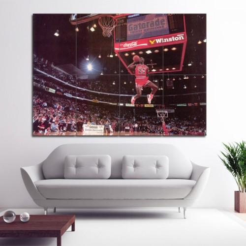 โปสเตอร์ ขนาดใหญ่ ภาพ Michael Jordan Slam Dunk Contest