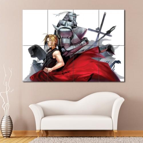 โปสเตอร์ ขนาดใหญ่ แขนกล คนแปรธาตุ Fullmetal Alchemist Anime