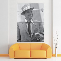 Frank Sinatra Smoking Block Giant Wall Art Poster (P-1402)
