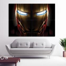 Iron Man Helmet Block Giant Wall Art Poster (P-1405)