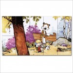 Calvin und Hobbes Schlitten Wand-Kunstdruck Riesenposter