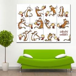 โปสเตอร์ ขนาดใหญ่ การ์ตูน Calvin and Hobbes Dance  (P-1410)