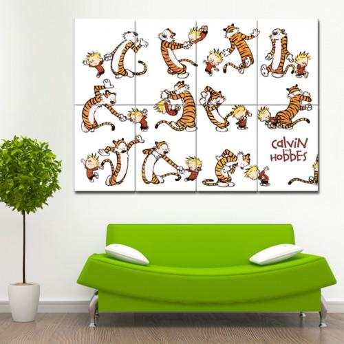 Calvin und Hobbes Tanz Wand-Kunstdruck Riesenposter