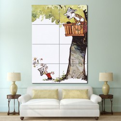 Calvin and Hobbes Treehouse Block Giant Wall Art Poster (P-1412)