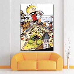 Calvin and Hobbes Giant Block Giant Wall Art Poster (P-1413)