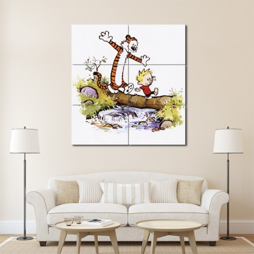 Calvin and Hobbes #7 Block Giant Wall Art Poster