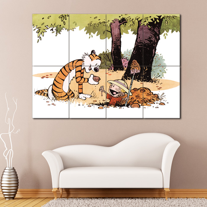 Calvin and hobbes 12 block giant wall art poster for Calvin and hobbes nursery mural
