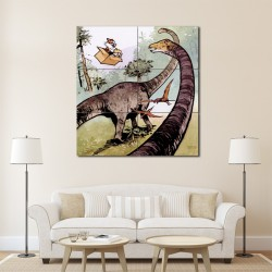 Calvin and Hobbes Dinosaur Block Giant Wall Art Poster (P-1421)