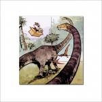 โปสเตอร์ ขนาดใหญ่ การ์ตูน Calvin and Hobbes Dinosaur