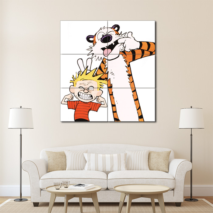 Calvin And Hobbes Emotion Face Block Giant Wall Art Poster Part 58