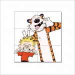 Calvin and Hobbes  Emotion Face Block Giant Wall Art Poster