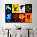 โปสเตอร์ ขนาดใหญ่ ภาพ Game of Thrones-House Sigils