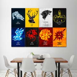 Game of Thrones-House Sigils Block Giant Wall Art Poster (P-1425)