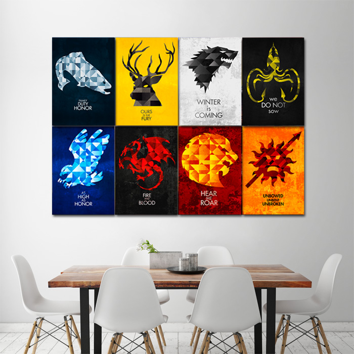 game of sigils block giant wall art poster