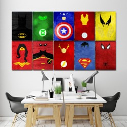 Superheroes Characters Block Giant Wall Art Poster (P-1426)