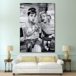 Audrey Hepburn and Marilyn Monroe Tattoo Giant Poster