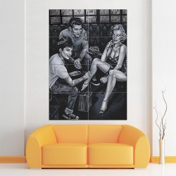 James Dean Audrey Hepburn and Marilyn Monroe Tattoo Block Giant Wall Art Poster (P-1429)