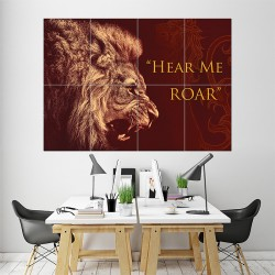 Game Of Thrones House Lannister Block Giant Wall Art Poster (P-1433)
