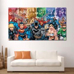 โปสเตอร์ ขนาดใหญ่ ภาพ DC Comics Team Superheroes (P-1435)