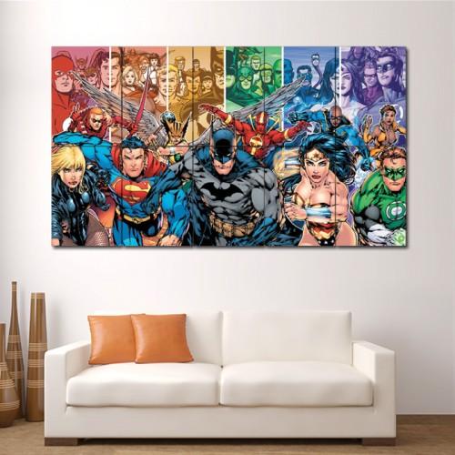 DC Comics Team Superheroes Block Giant Wall Art Poster
