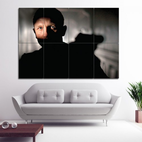 james bond 007 daniel craig wand kunstdruck riesenposter. Black Bedroom Furniture Sets. Home Design Ideas