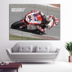 โปสเตอร์ ขนาดใหญ่ ภาพ มอเตอร์ไซค์ Ducati Motorcycle Bike Race  (P-1438)