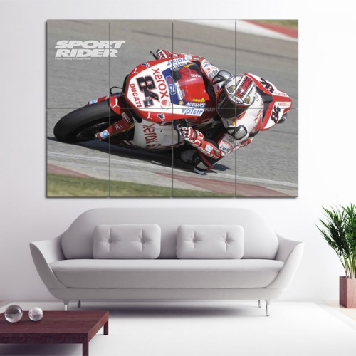 Ducati Motorcycle Bike Race Block Giant Wall Art Poster