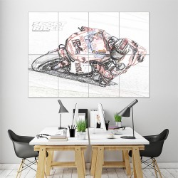 Ducati Motorcycle Bike Race Sketch Block Giant Wall Art Poster (P-1439)