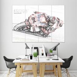 โปสเตอร์ ขนาดใหญ่ ภาพมอเตอร์ไซค์  Ducati Motorcycle Bike Race Sketch  (P-1439)