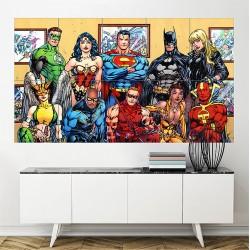 โปสเตอร์ ขนาดใหญ่ ภาพ DC Comics Superheroes (P-1440)