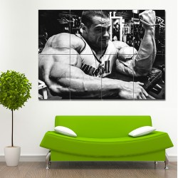 Evan Centopani - Biceps workout Block Giant Wall Art Poster (P-1442)