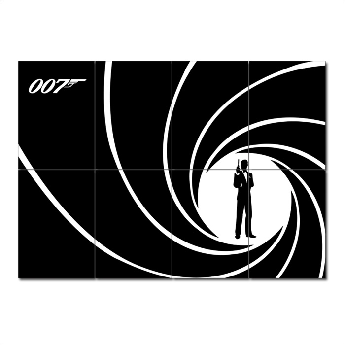 james bond 007 wand kunstdruck riesenposter. Black Bedroom Furniture Sets. Home Design Ideas