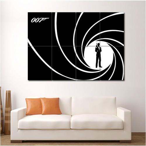 james bond 007 wand kunstdruck riesenposter. Black Bedroom Furniture Sets. Home Design Ideas