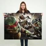 โปสเตอร์ ขนาดใหญ่ ภาพ Teenage Mutant Ninja Turtles นินจาเต่า