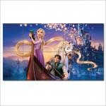 โปสเตอร์ ขนาดใหญ่ การ์ตูน Tangled  Rapunzel  ราพันเซล เจ้าหญิงผมยาว