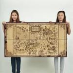 โปสเตอร์ ขนาดใหญ่ ภาพแผนที่ Harry Potter Map
