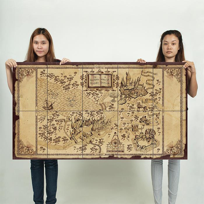 The Wizarding World of Harry Potter Map Kunstdruck Poster