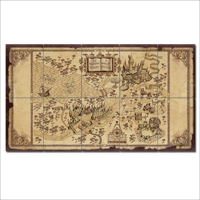 The Wizarding World Of Harry Potter Map Giant Wall Art Poster
